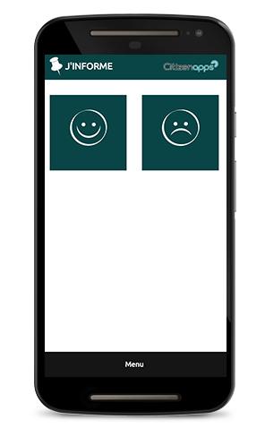 Application smartphone pour commune signale les alertes