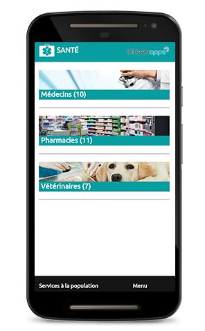 Application mobile pour votre ville qui repère les points santé