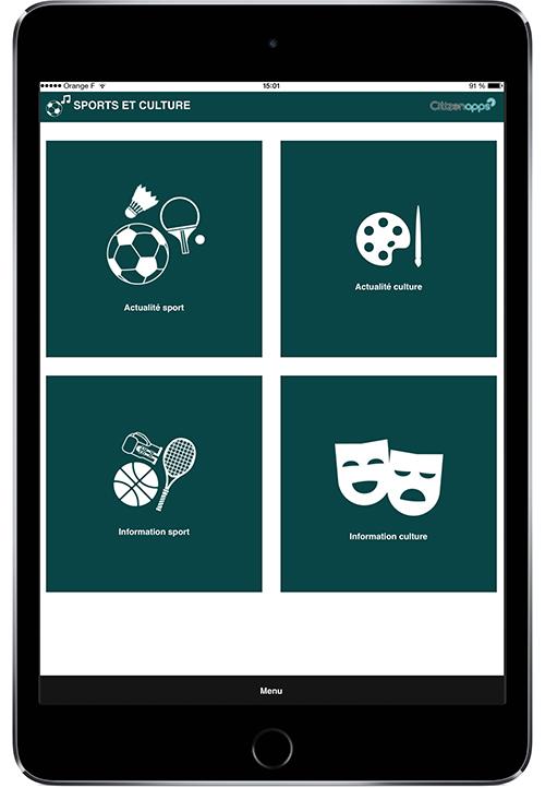 Application mobile pour votre mairie qui présente la culture et le sport